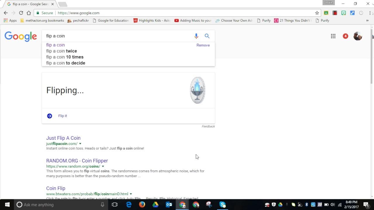 Time to Talk Tech : Use Google search to virtually flip a coin