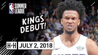 Marvin Bagley III Full Kings Debut Highlights vs Lakers (2018.07.02) Summer League - 18 Pts, 6 Reb