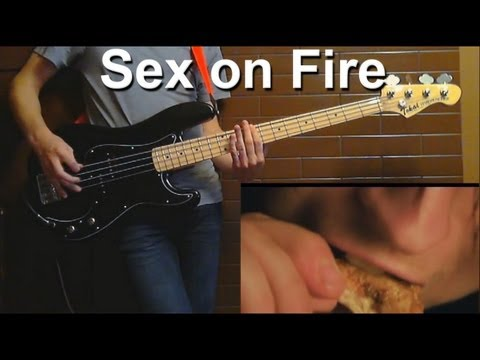 Kings Of Leon - Sex on Fire ( BASS COVER ) With GP5 Tabs !!!