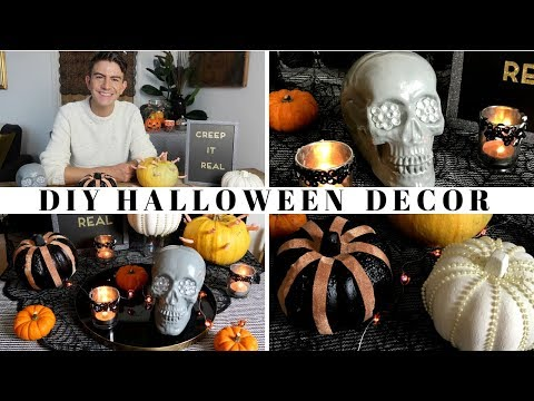DIY HALLOWEEN DECOR 2018 | DIY HALLOWEEN POUNDLAND / DOLLAR STORE IDEAS