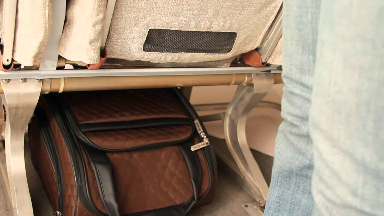 9fbeaaf727 Fit Your Bag Under the Airplane Seat with Travelon - YouTube