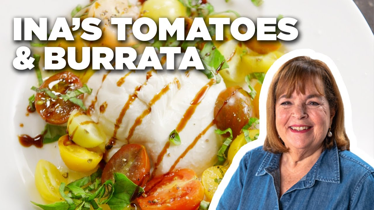 Barefoot Contessa S Tomatoes And Burrata Barefoot Contessa Cook Like A Pro Food Network Youtube