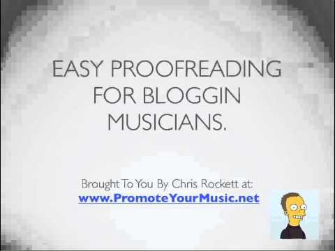 Easy proofreading for blogging musicians - Podcast #6