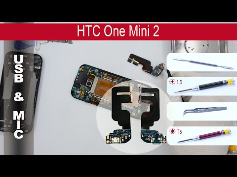 How to replace 🔧 🔌 charging port (usb) & 🎤 microphone HTC One Mini 2 OP8B230