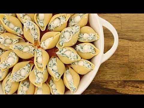 Spinach & Ricotta Stuffed Pasta Shells Recipe