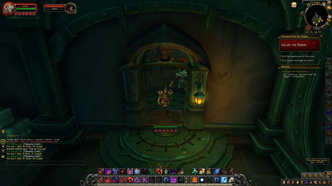 Through The Front Door Quest Id 54179 Playthrough Wow Youtube