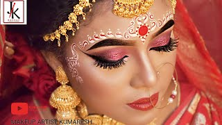 INDIAN BRIDAL MAKEUP || BENGALI BRIDAL MAKEUP || STEP BY STEP MAKEUP TUTORIAL || HD BRIDAL MAKEUP