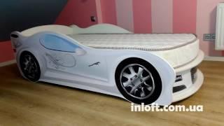 Кровать машина Ягуар белая