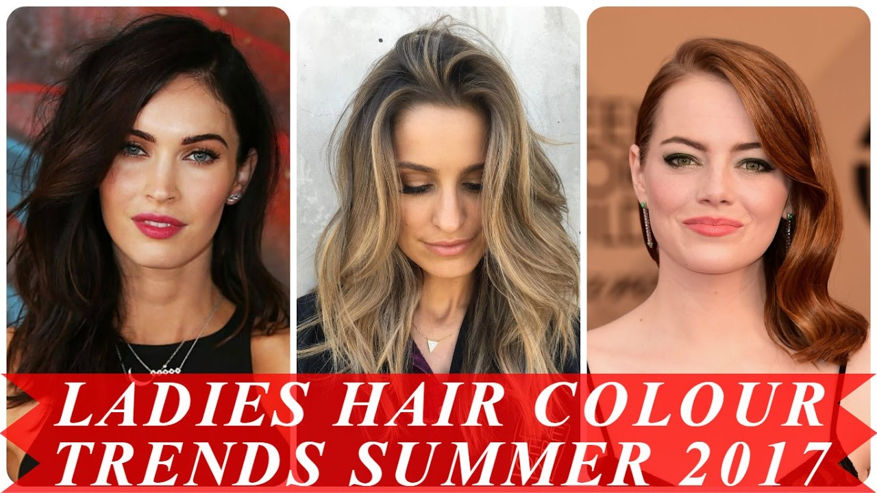Ladies Hair Colour Trends Summer 2017  YouTube