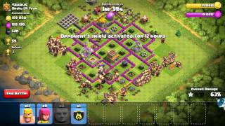 Clash of clans all giant attack(999 Giants)