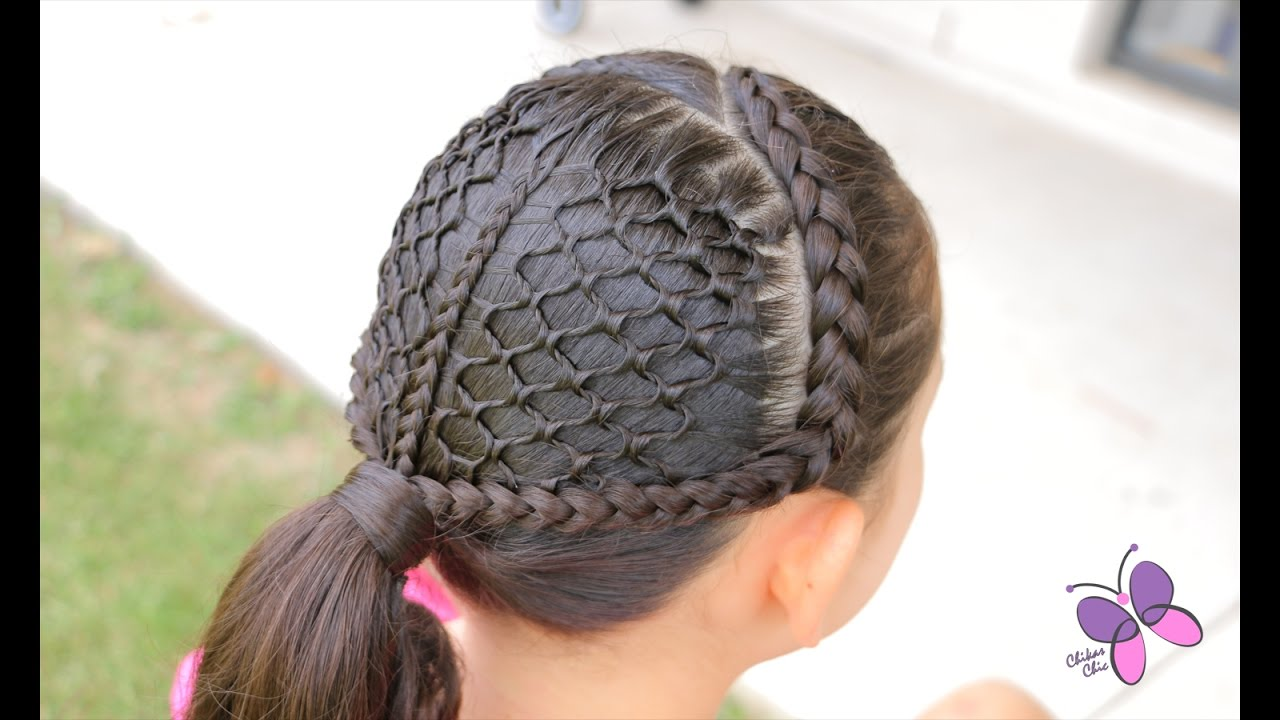 Honeycomb Ponytail | Braided Hairstyles | Cute Girly Hairstyles ...