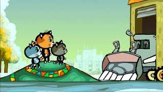 Детские песенки - Развивающие и обучающие мультики - 🐱 Три котенка: 🚗 Машинки