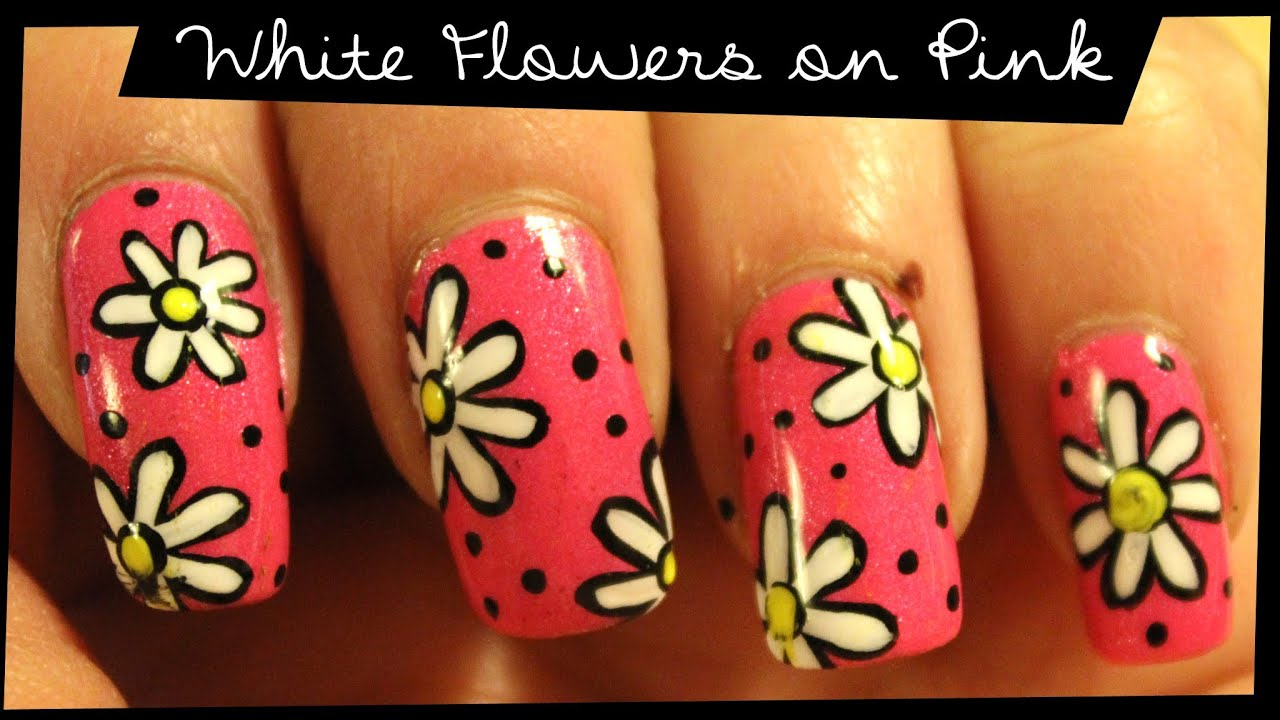 Pink flying cow 87 nail art