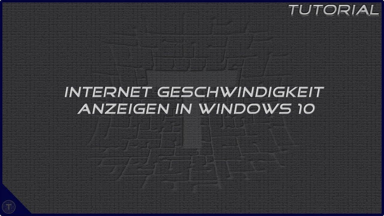 Internet Geschwindigkeit Anzeigen