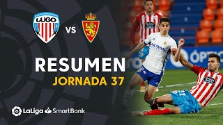 Resumen de CD Lugo vs Real Zaragoza (2-2)