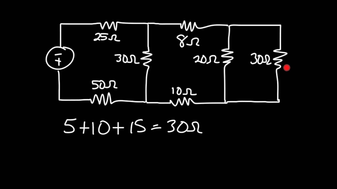 dc series parallel circuit total resistance youtube rh youtube com