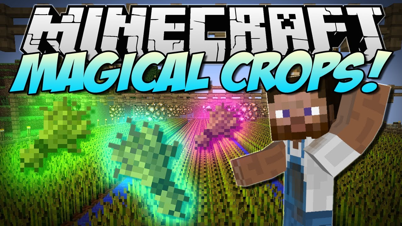 Minecraft MAGICAL CROPS Grow Diamonds Obsidian And
