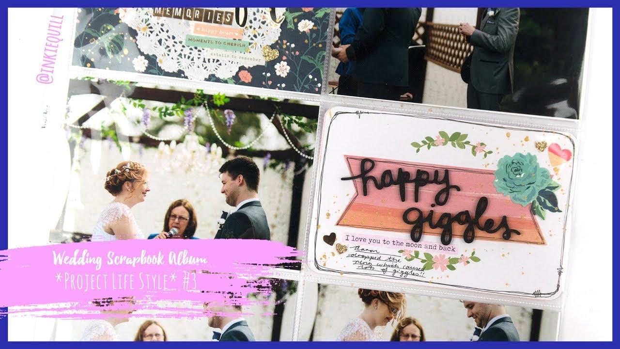 Wedding Scrapbook Album Project Life Style 3 Inkiequill