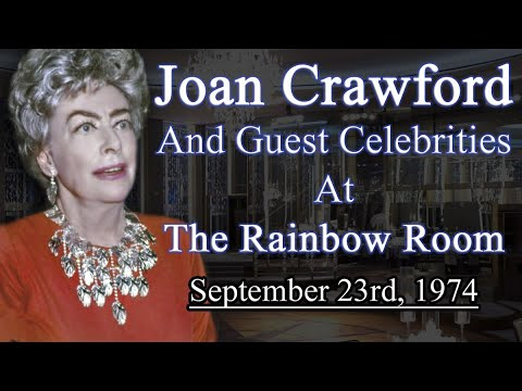 Joan Crawford | The Rainbow Room 1974 | Full Footage