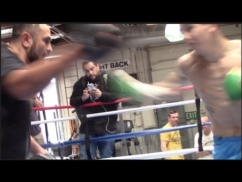 STAR QUALITY! MICHAEL CONLAN LOOKING IN TREMENDOUS SHAPE ON THE PADS WITH TRAINER MANNY ROBLES