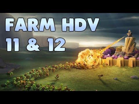 Clash of Clans - Farm HDV 11 & 12 (Mineur et gobelins)