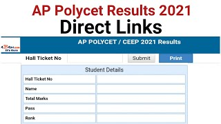 AP Polycet 2021 Results Direct Links