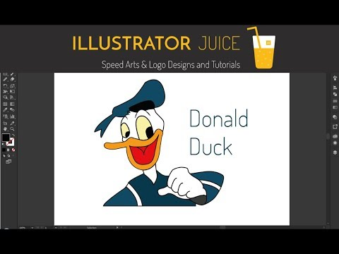 Donald Duck Cartoon Design Tutorial Step By Step in Illustrator CC 2017