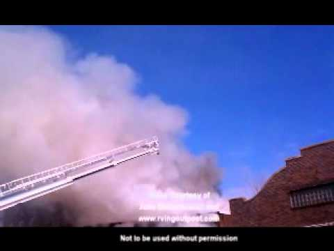 Video from the fire at the Abbotsford, WI Movie Theater