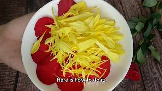 How to make a mask from rose petals moisturize the face skin
