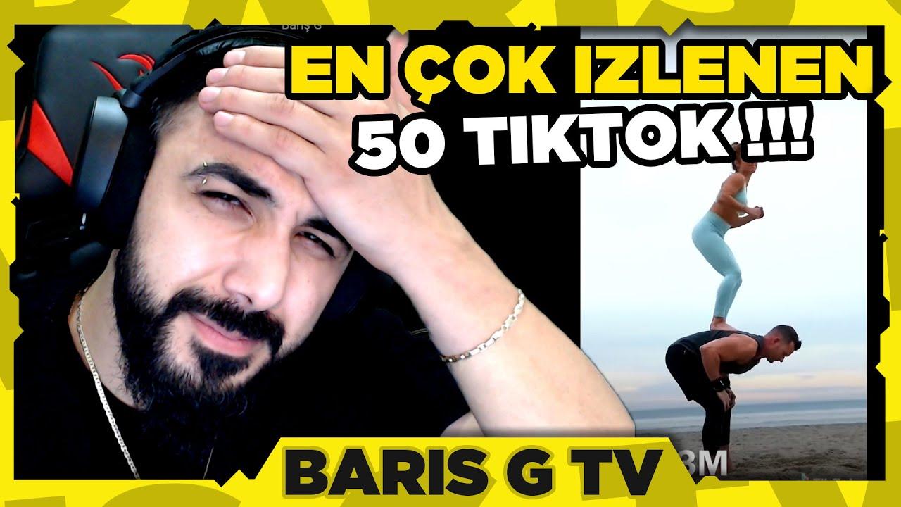 Barış G EN ÇOK İZLENEN 50 TİKTOK VİDEOSUNU İZLİYOR !!!