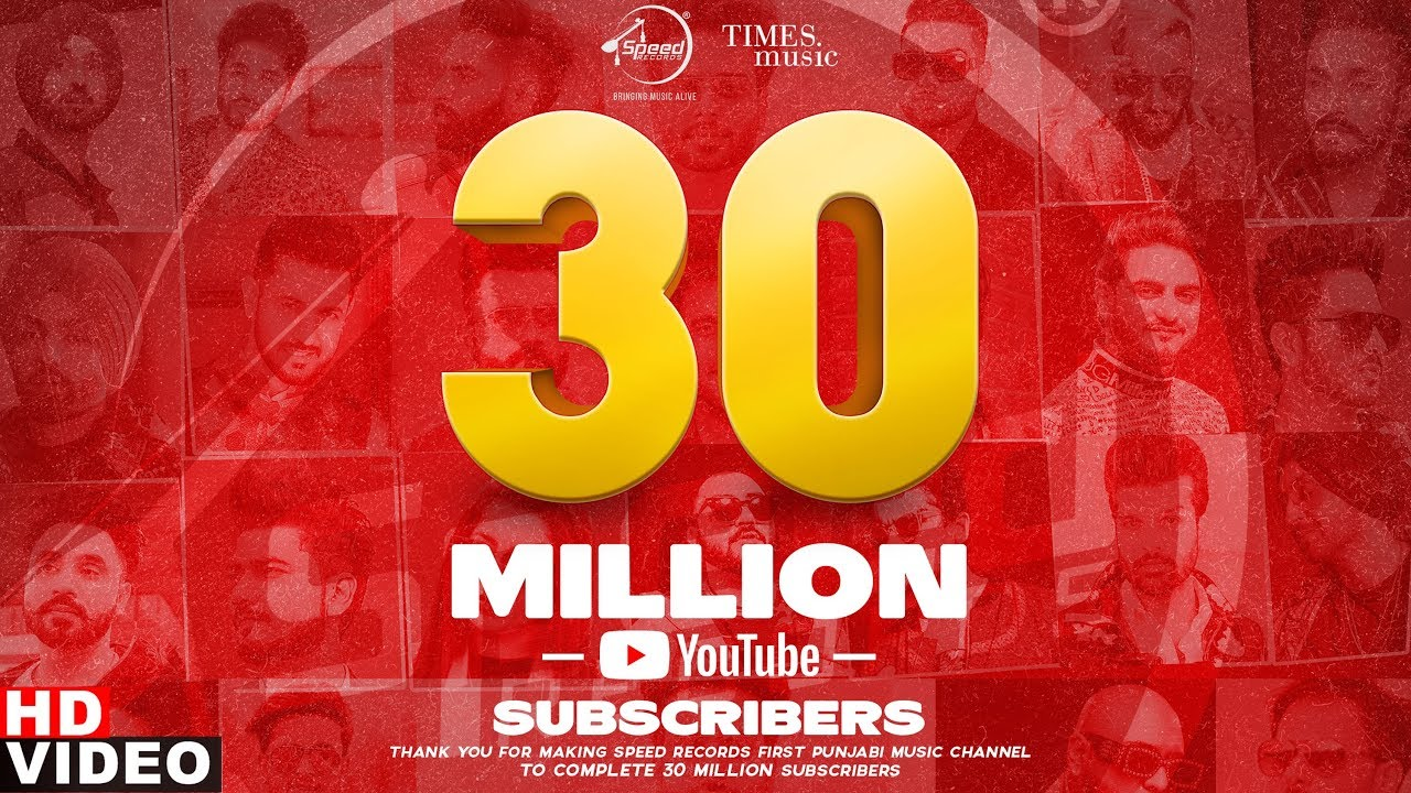 Celebrating 30 Million Subscribers | Big Thanks To All Artists & Fans | Speed Records