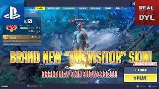 "*BRAND NEW* Blockbuster Skin! | ""The Visitor"" Skin Showcase! (Fortnite Battle Royale)"