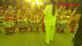 Latino (Brazilian-Batala) music/drum group performance in Athens / Greece at june 2018