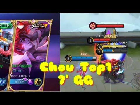 Top 1 Gosu Gen X  Play Chou 7' GG Mobile Lengends.