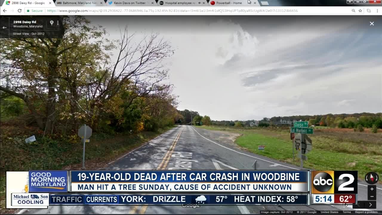 19-year-old dead after car crash in Woodbine
