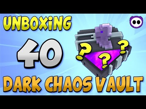 UNBOXING 40 DARK CHAOS VAULT BOXES IN TROVE! ✪ Rarest Box in the Game?