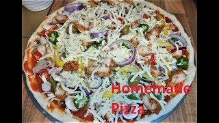 Homemade Italian Pizza / Homemade Chicken Pizza / Mighty Meaty Pizza