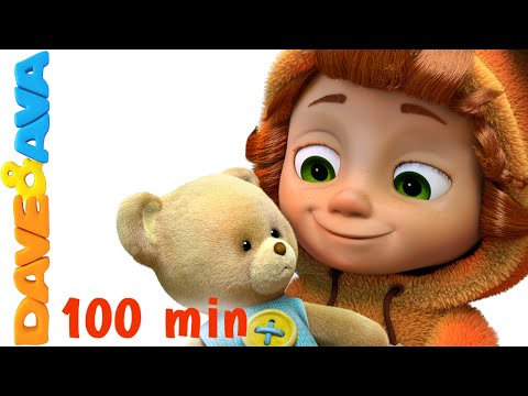 Teddy Bear, Teddy Bear, Turn Around  Nursery Rhymes for Kids and Children  Baby  Dave and Ava