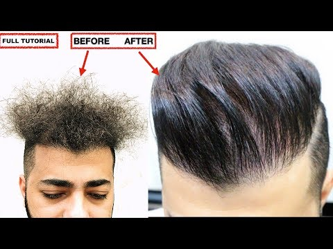CURLY TO STRAIGHT HAIR PERMANENT★ KERATIN TREATMENT★NATURAL HAIR ★ NO ❌ Frizzy Hair, MEN'S HAIRSTYLE