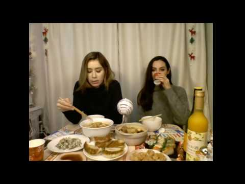 Mukbang & Wine with Bii & Emily