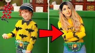 Trying on Kids GUCCI Outfits...
