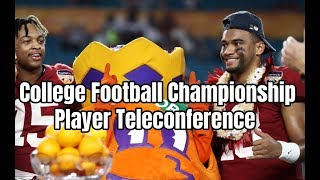 Tua Tagovailoa and Xavier McKinney make opening comments heading into the CFB Championship