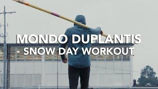 Mondo and Antoine Duplantis - Snow Day Workout