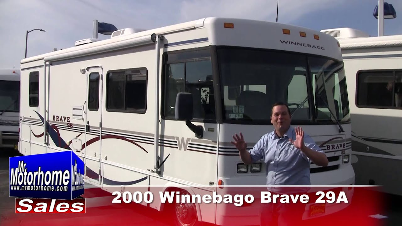 mr motorhome 2000 winnebago brave 29a preowned class a for sale #1234  sacramento ca