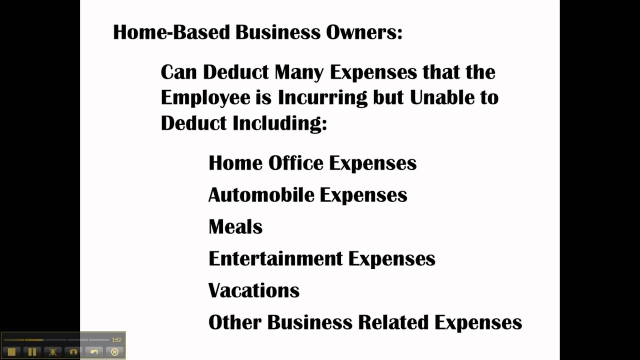 Home-Based Business CPA Explains Tax Benefits - YouTube