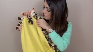Como Fazer um Cobertor sem Costura - Presente de Final de Ano