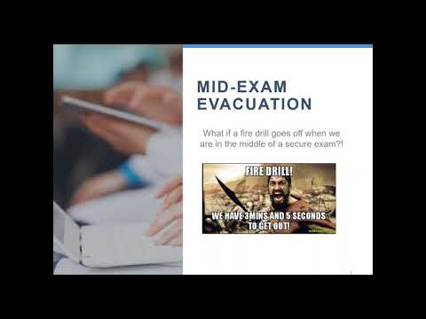 Be Prepared - Exam Day Backup Plans