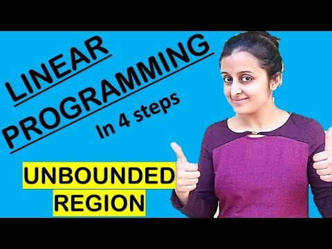 LINEAR PROGRAMMING FOR UNBOUNDED REGION PROBLEMS || CLASS XII 12th MATH CBSE/ISC