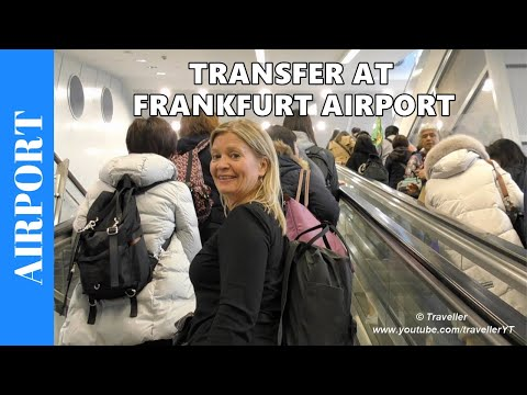 Frankfurt Airport Transfer - Transit Procedure for Connection Flight - Airport Travel video