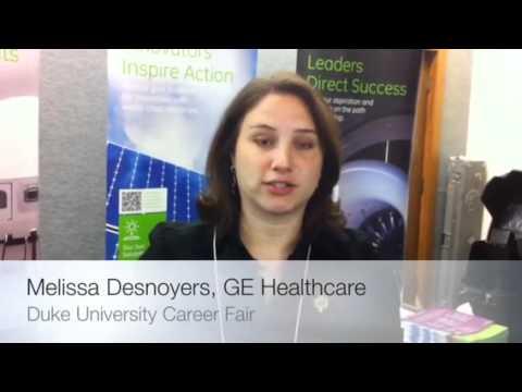 GE Healthcare- Melissa Desnoyers (Career Fair Advice)